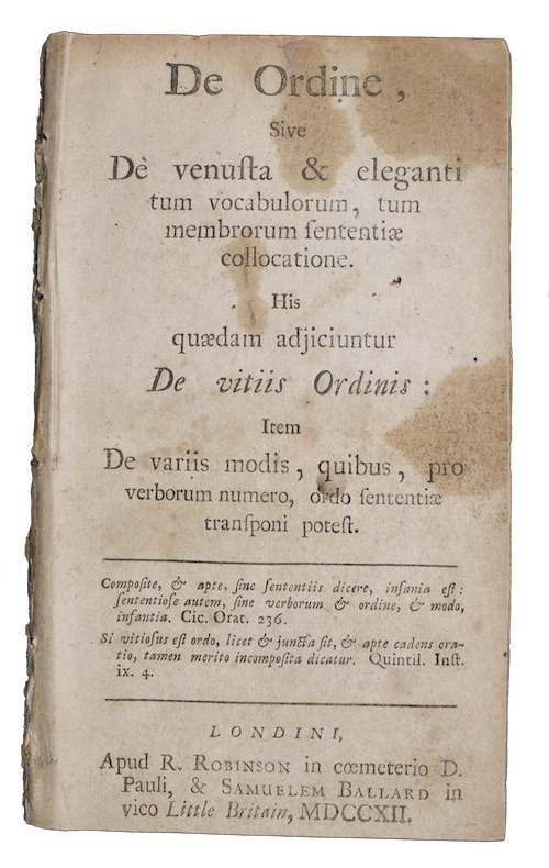 "Photo of ""De Ordine, Sive De venusta ..."""