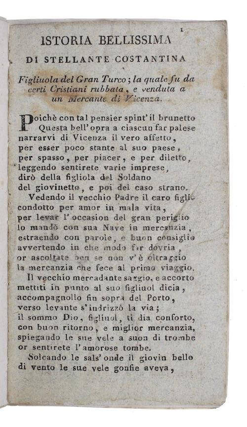 """Photo of """"Istoria bellissima di Stellante Costantina. ..."""""""