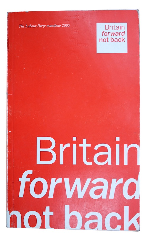 "Photo of ""The Labour Party manifesto 2005"""