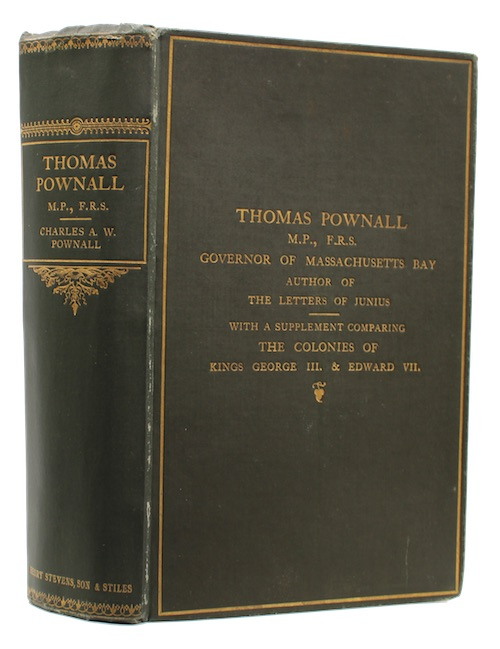 "Photo of ""Thomas Pownall M.P., F.R.S. governor ..."""