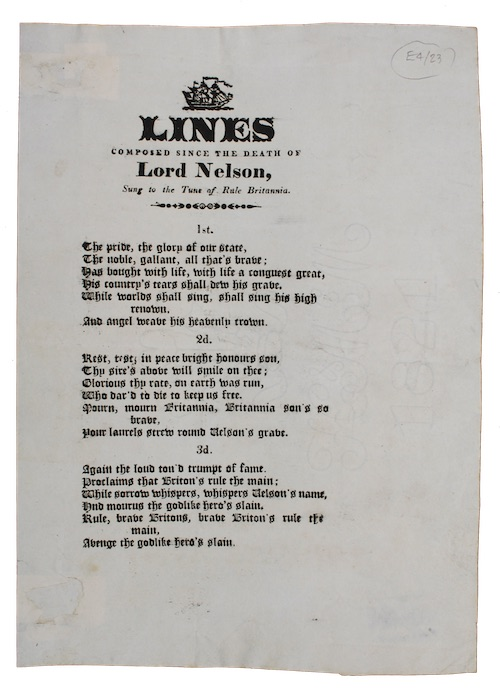 "Photo of ""Lines composed since the death ..."""
