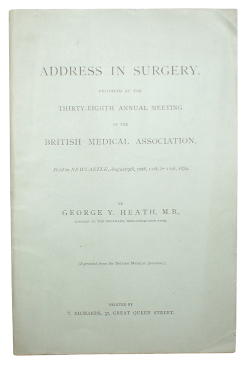 "Photo of ""Address in Surgery, Delivered at ..."""