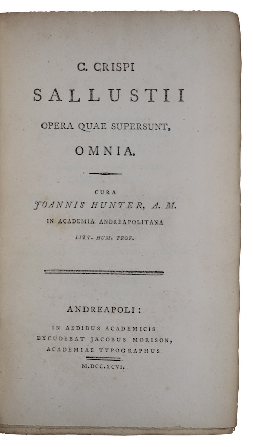 "Photo of ""C. crispi sallustii opera quae ..."""
