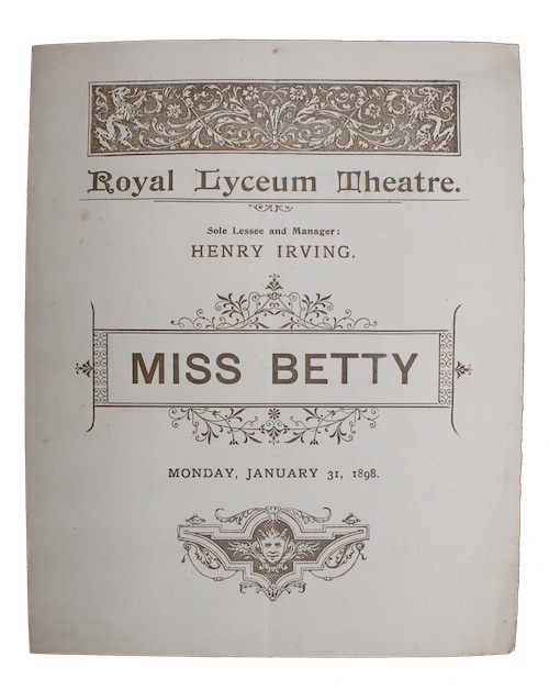 "Photo of ""[Theatre programme for:] Royal Lyceum ..."""