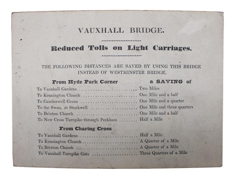 "Photo of ""Vauxhall bridge. Reduced tolls on ..."""