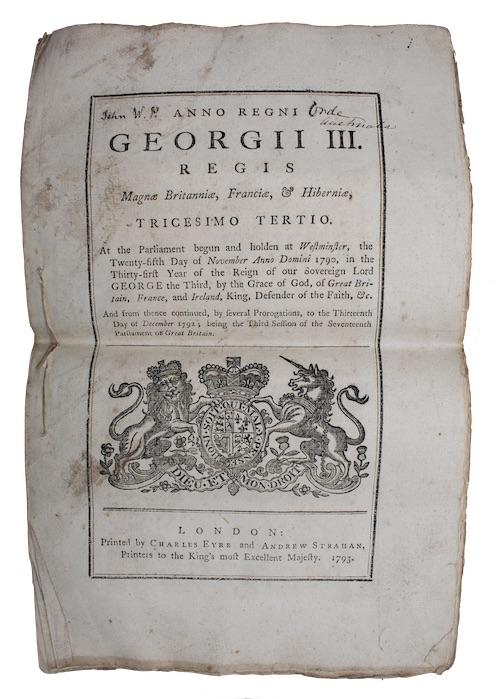 "Photo of ""Anno regni georgii III. Regis ..."""