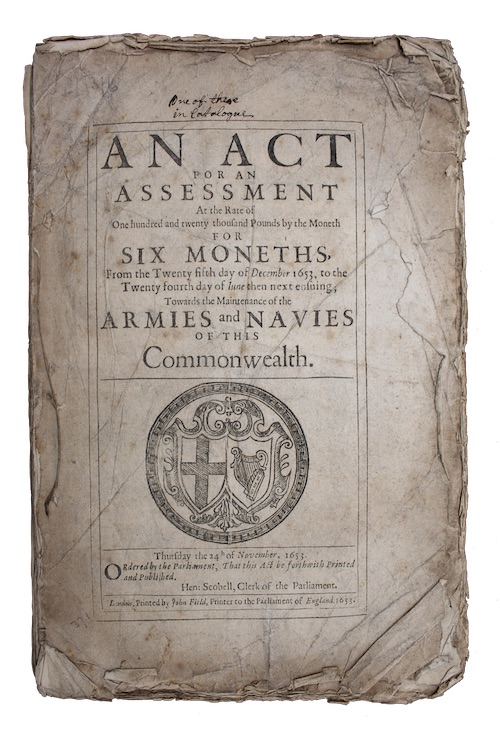 "Photo of ""An Act for an assessment ..."""