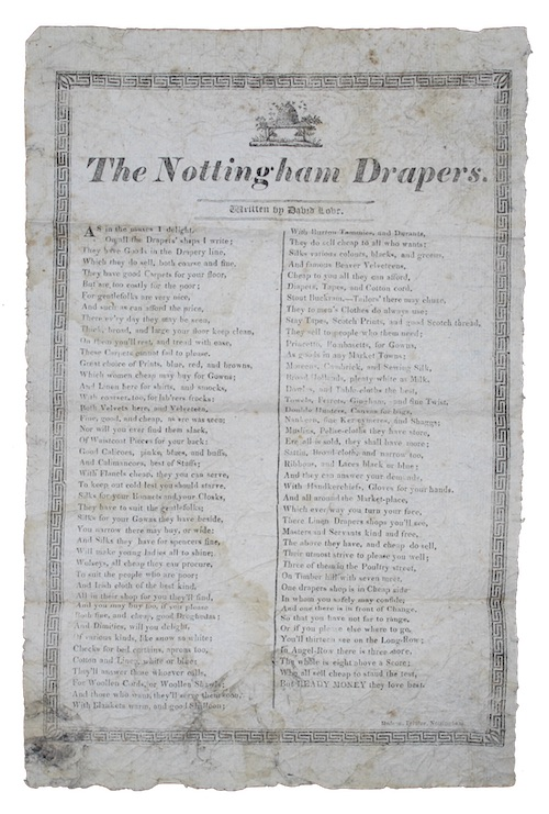 "Photo of ""The Nottingham Drapers"""