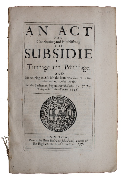 "Photo of ""An act for Continuing and ..."""