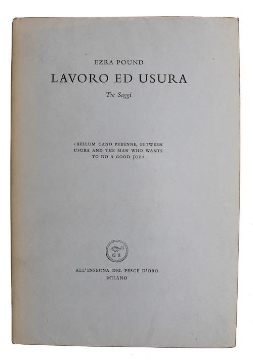 "Photo of ""Lavoro ed usura: Tre Saggi"""