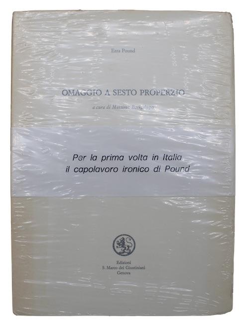 """Photo of """"Omaggio a Sesto Properzio: a ..."""""""