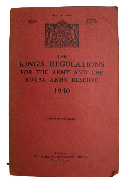 """Photo of """"The King's regulations for the ..."""""""