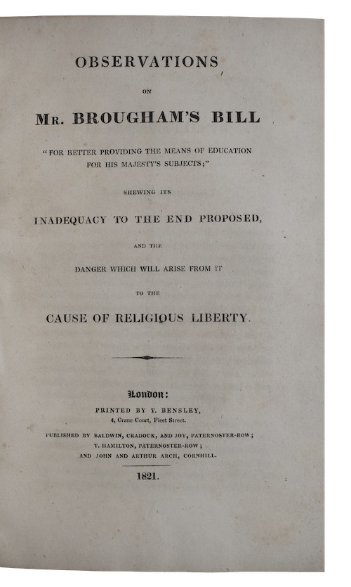 """Photo of """"Observations on Mr. brougham's bill ..."""""""