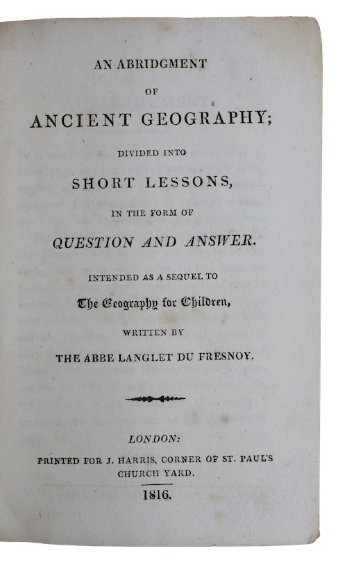 """Photo of """"An abridgment of ancient geography; ..."""""""