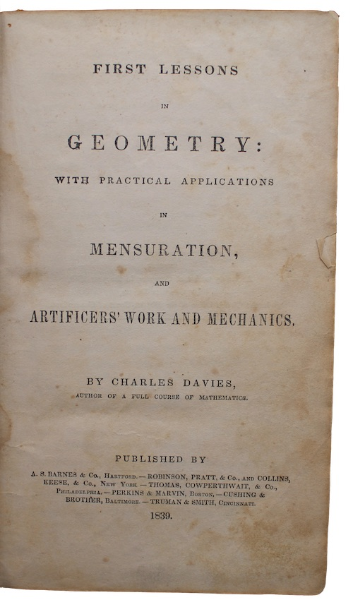 """Photo of """"First lessons in geometry: with ..."""""""