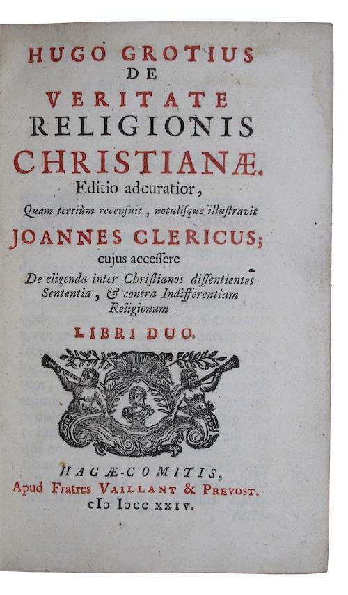 """Photo of """"Hugo grotius de veritate religionis ..."""""""