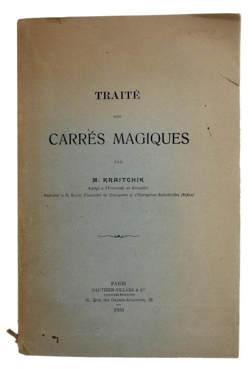 """Photo of """"Traite des carres magiques"""""""