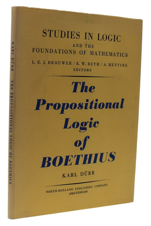"""Photo of """"The propositional logic of Boethius"""""""