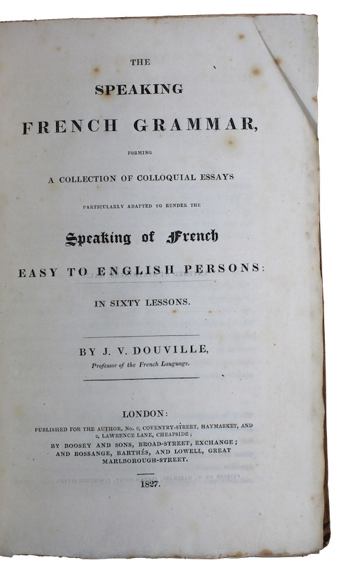 """Photo of """"The speaking french grammar, forming ..."""""""