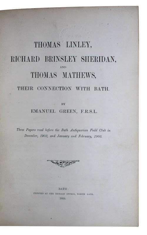 """Photo of """"Thomas Linley, Richard Brinsley Sheridan, ..."""""""