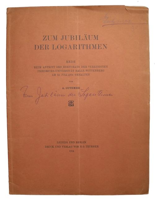 "Photo of ""Zum jubilaum der logarithmen"""