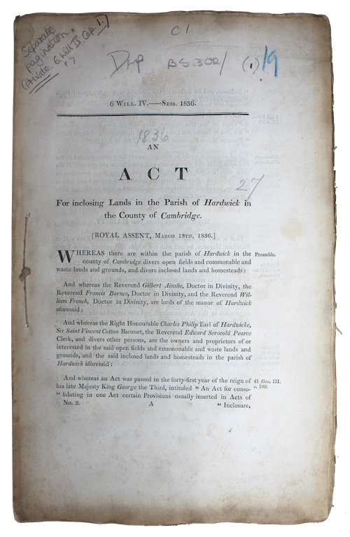 """Photo of """"An act for Inclosing Lands ..."""""""
