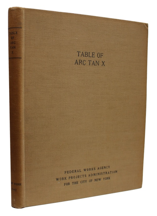 """Photo of """"Table of arc tan x"""""""