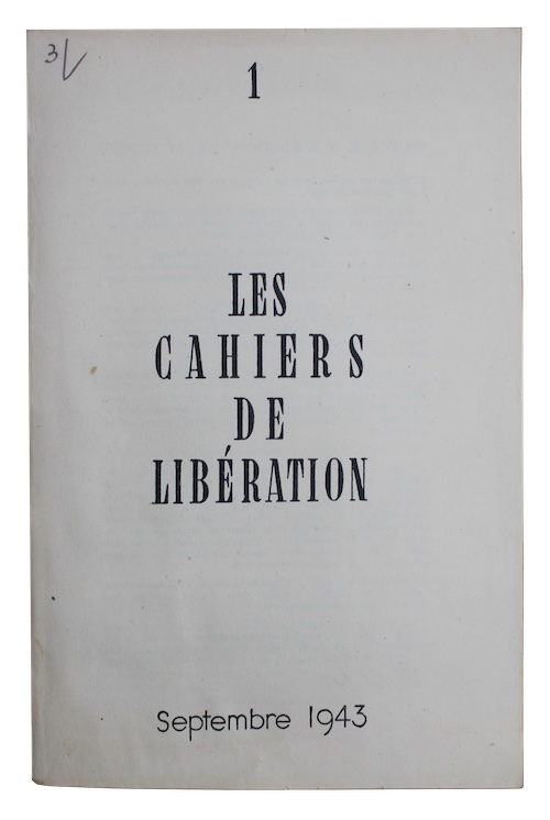 "Photo of ""Les Cahiers de liberation. No. ..."""