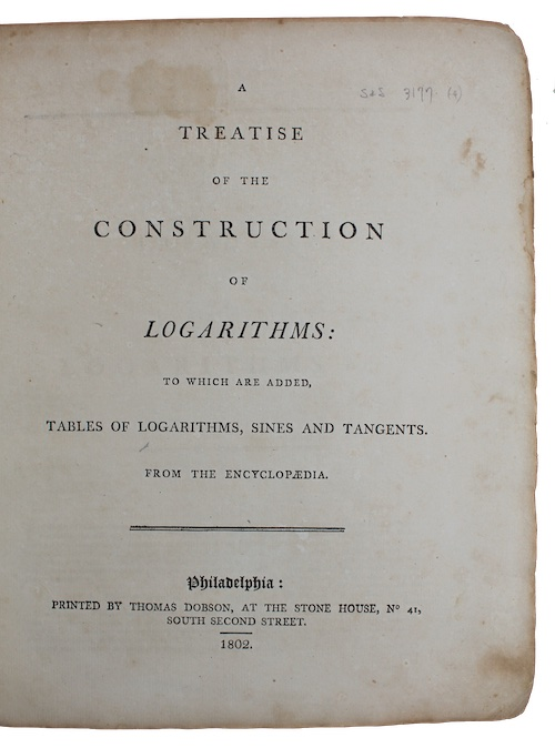 """Photo of """"A treatise of the construction ..."""""""