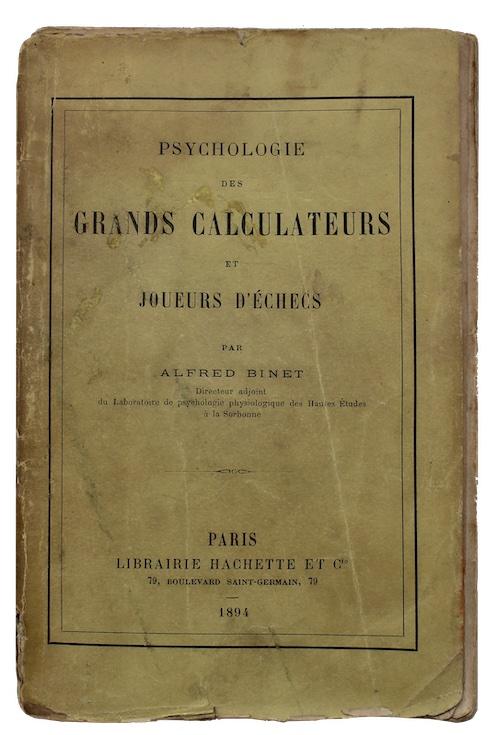 """Photo of """"Psychologie des grands calculateurs et ..."""""""