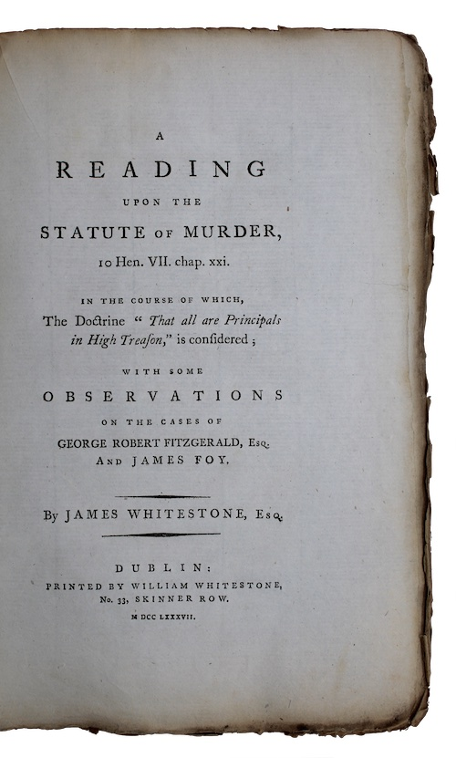 """Photo of """"A reading upon the statute ..."""""""