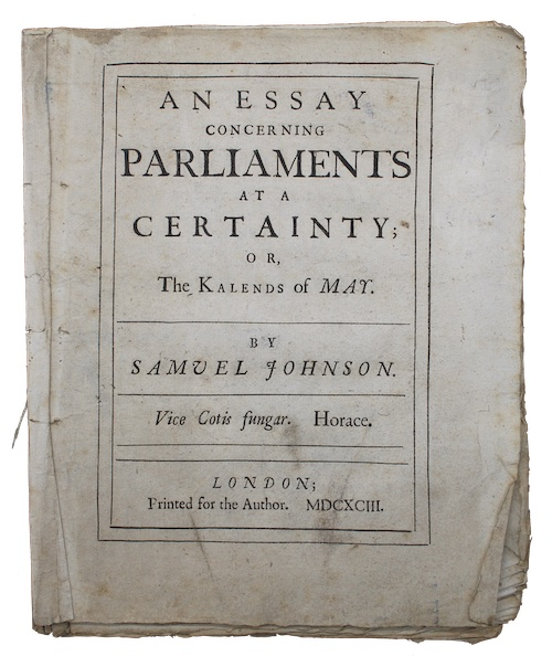 """Photo of """"An essay concerning parliaments at ..."""""""