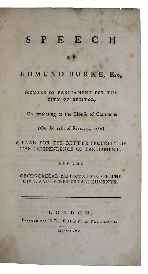 "Photo of ""Speech of edmund burke, Esq. ..."""
