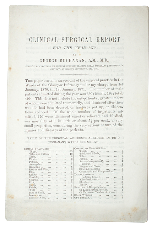 "Photo of ""Clinical surgical report for the ..."""