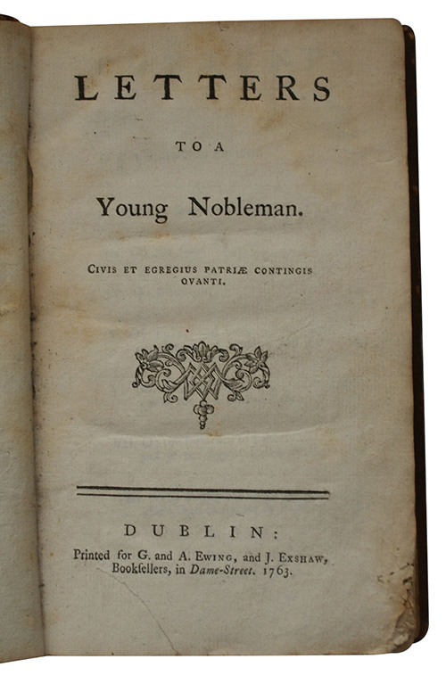 """Photo of """"Letters to a Young Nobleman"""""""