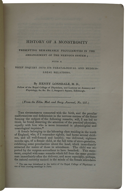 "Photo of ""History of a monstrosity presenting ..."""