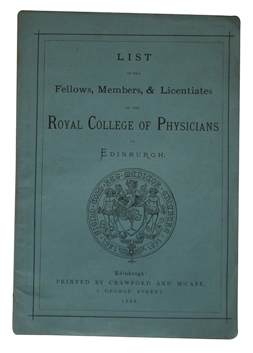 "Photo of ""List of the fellows, members, ..."""