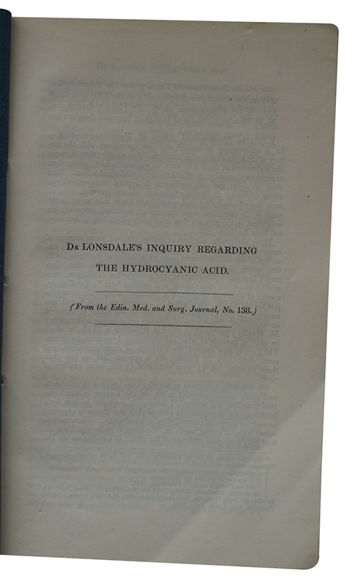 "Photo of ""Dr Lonsdale's inquiry regarding the ..."""