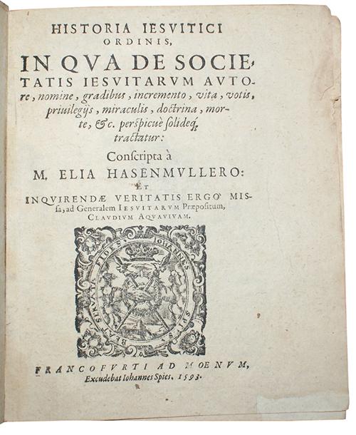 """Photo of """"Historia Jesuitici Ordinis, In Qua ..."""""""