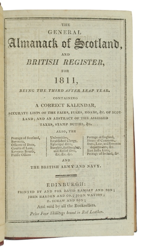 "Photo of ""The general Almanack of Scotland, ..."""