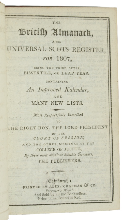 "Photo of ""The British Almanack, and universal ..."""