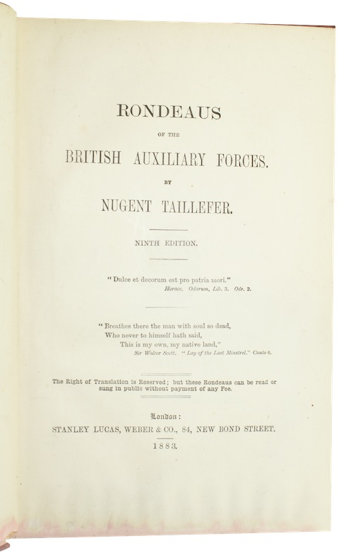 "Photo of ""Rondeaus of the British Auxiliary ..."""
