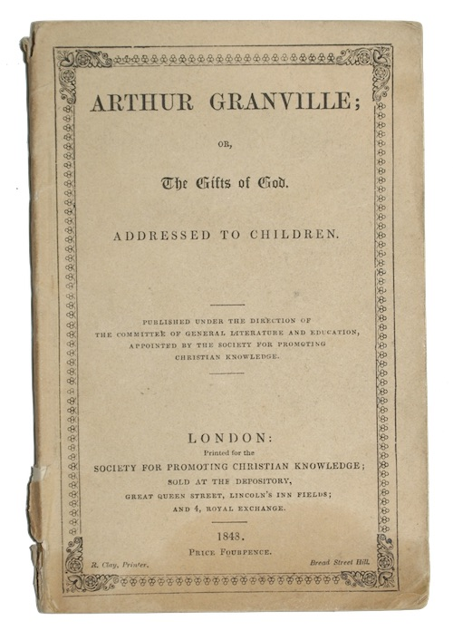 """Photo of """"Arthur granville; or, the gifts ..."""""""