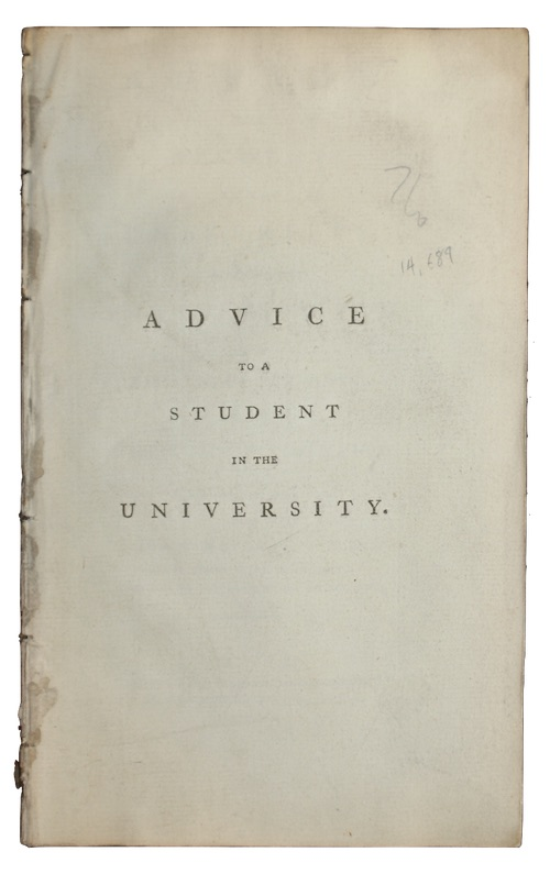 """Photo of """"Advice to a student in ..."""""""