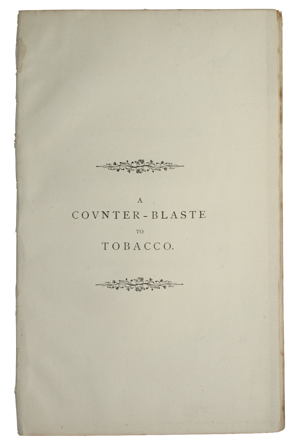 "Photo of ""A counter-blaste to tobacco. (Written ..."""