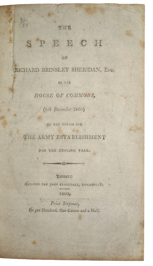 "Photo of ""The speech of richard brinsley ..."""
