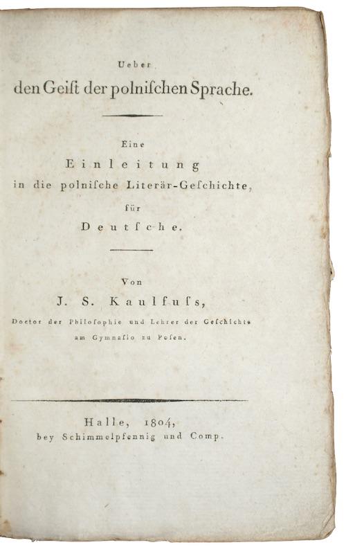 """Photo of """"Ueber den geist der Polnischen ..."""""""