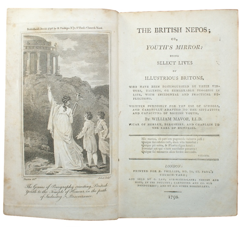 """Photo of """"The british nepos; or, youth's ..."""""""