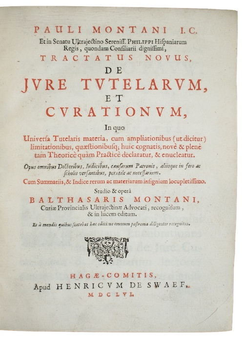 "Photo of ""Pauli montani...tractatus novus, de jure ..."""