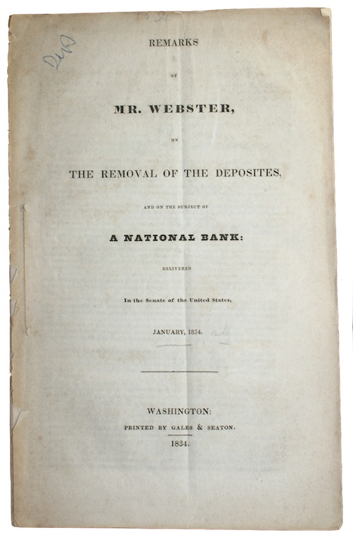 "Photo of ""Remarks of mr. webster, on ..."""